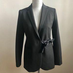 JCREW Black Side Tie Blazer Sz 2